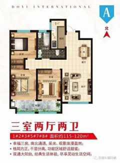出售(菏澤)東翼國際3室2廳2衛117.19平毛坯房