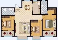 (菏泽)名门世都3室2厅2卫143m²毛坯房