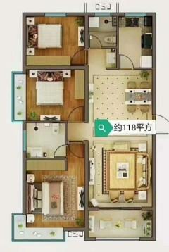 (菏泽)中南花城3室2厅2卫118m²毛坯房