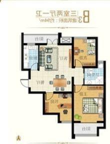 (菏泽)区实验,时代奥城3室1厅1卫