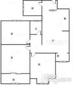 (菏泽)阅城国际花园3室2厅1卫59万100.35m²简单装修出售